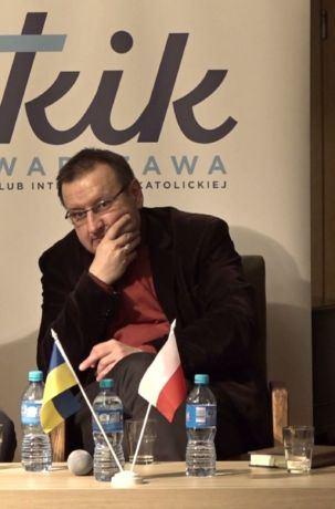dr hab. Roman Wysocki, prof. Jan Pisuliński, prof. Andrzej Friszke, Spotkanie z okazji 100-lecia niepodległego państwa ukraińskiego