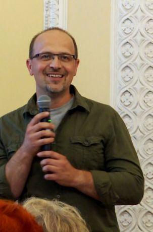 Dr hab. Robert Mysłajek, wykład Rysie w zarysie, Kawiarnia Naukow Festiwalu Nauki