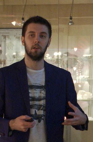 Dr Daniel Tyborowski, wykład Unikatowe stanowiska paleontologiczne, Muzeum Ziemi