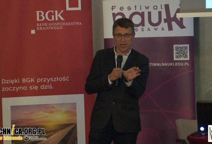 Obrazek przedstawia prof. Krzysztofa Meissnera - wykład Co wnieśli do nauki tegoroczni nobliści?
