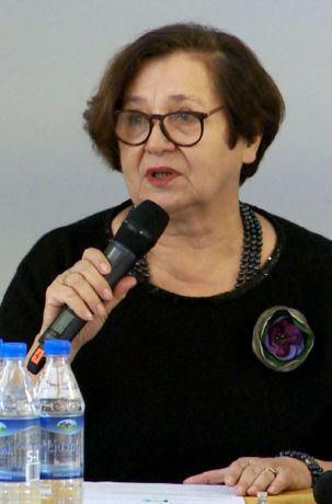Media jako źródło wiedzy rolników - konferencja w IRWiR PAN, na zdjęciu prof. dr hab. Maria Halamska